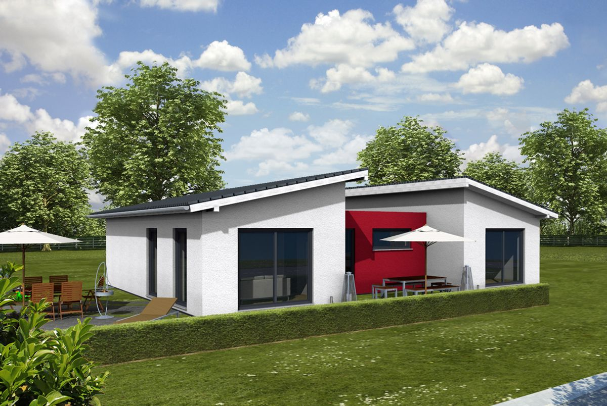 Moderne doppelhäuser pultdach  Modern: Massiv-, Fertighaus oder Liapor-Haus
