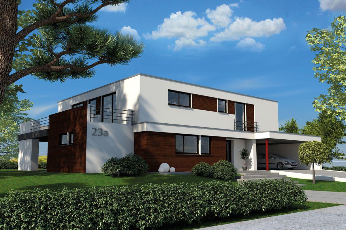 bauhausstil flachdach iqhausbau. Black Bedroom Furniture Sets. Home Design Ideas